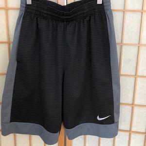 Men's small Nike black and gray basketball shorts